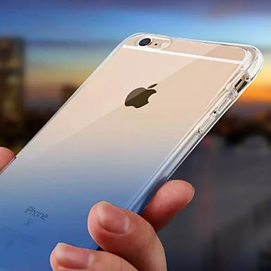 voordelige iPhone X hoesjes-hoesje Voor Apple iPhone X / iPhone 8 Plus / iPhone 8 Waterbestendig / LED-knipperlicht Achterkant Kleurgradatie Zacht TPU
