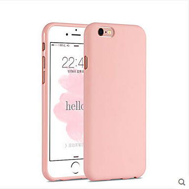 voordelige iPhone 5 hoesjes-hoesje Voor Apple iPhone 6s Plus / iPhone 6s / iPhone 6 Plus Achterkant Effen Zacht Siliconen