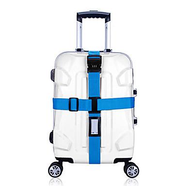 olcso Utazó bőröndök-1 db Bőröndheveder Számkódos lakat Tartós Állítható Poggyász tartozék mert Tartós Állítható Poggyász tartozék Bíbor Zöld Kék Rózsaszín