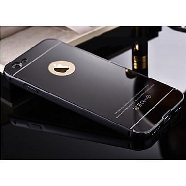 Недорогие Кейсы для iPhone 6-Кейс для Назначение Apple Покрытие / Зеркальная поверхность Кейс на заднюю панель Однотонный Твердый Металл
