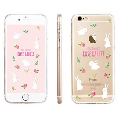 vit kanin blommönster transparent TPU material ringer fallet för iphone 6    6s 4753233 2018 – €3.99 7a24b30cad8a6