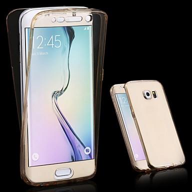 غطاء من أجل Samsung Galaxy S6 edge plus / S6 edge / S6 شفاف غطاء كامل للجسم لون سادة TPU