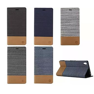 Недорогие Чехлы и кейсы для Sony-Кейс для Назначение Sony Z5 / Sony Xperia Z3 / Sony Xperia Z3 Compact Sony Xperia Z3 / Sony Xperia Z3 Compact / Sony Xperia Z5 Бумажник для карт / со стендом / Флип Чехол Однотонный Твердый Кожа PU