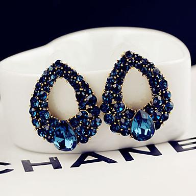 ieftine Cercei-Pentru femei Albastru Cristal Cercei Stud Stil Clasic Temă Clasică Elegant & Luxos cercei Bijuterii Albastru Pentru Nuntă Petrecere Zilnic Casual