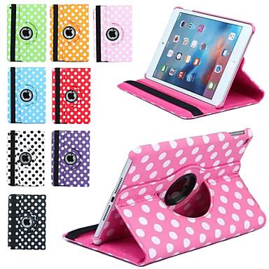 رخيصةأون أغطية أيباد-غطاء من أجل Apple iPad Mini 3/2/1 دوران360ْ / مع حامل / نوم / استيقاظ أتوماتيكي غطاء كامل للجسم قرميدة جلد PU