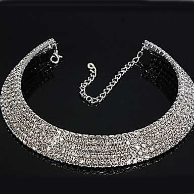 Women s Synthetic Diamond Tennis Chain Choker Necklace Rhinestone Ladies  Bridal Necklace Jewelry For Wedding Party 4061783 2019 –  8.49 53e91c9f7