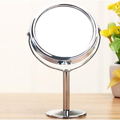 argint birou tip dublu cosmetice oglinzi machiaj cu oglinda cosmetice 1: 2 magnificare