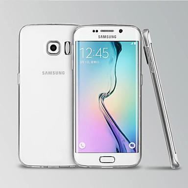Недорогие Чехол Samsung-Кейс для Назначение SSamsung Galaxy S6 edge Прозрачный Кейс на заднюю панель Однотонный ТПУ
