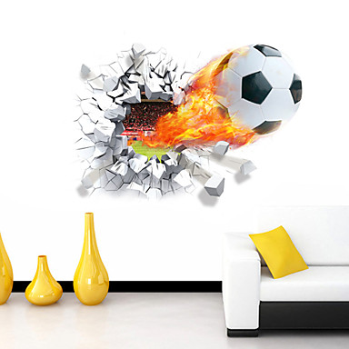 3D Wall Stickers Wall Decals Style Football Waterproof Removable PVC Wall  Stickers 4785636 2018 U2013 $5.39