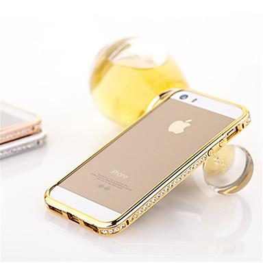 voordelige iPhone-hoesjes-hoesje Voor iPhone 5 iPhone SE / 5s / iPhone 5 Strass Bumper Effen Hard Metaal