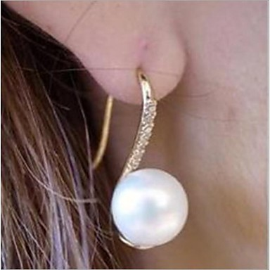 ieftine Cercei-Pentru femei Cercei Stud Imitație de Perle Ștras cercei Bijuterii Alb perlă Pentru Nuntă Petrecere Zilnic Casual