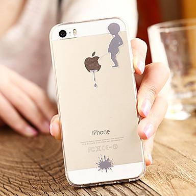 voordelige iPhone 5 hoesjes-hoesje Voor Apple iPhone 8 Plus / iPhone 8 / iPhone 7 Plus Transparant / Patroon Achterkant Spelen met Apple-logo Zacht TPU