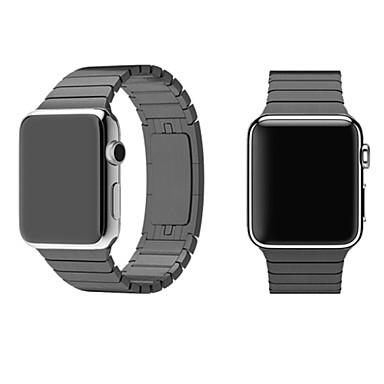 olcso Összes megtekintése-Nézd Band mert Apple Watch Series 4/3/2/1 Apple Butterfly csat Fém / Rozsdamentes acél Csuklópánt