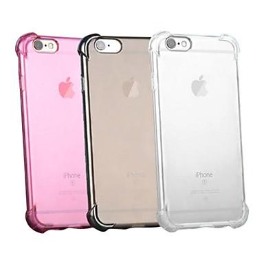 Недорогие Кейсы для iPhone-Кейс для Назначение Apple iPhone XS / iPhone XR / iPhone XS Max Защита от удара / Прозрачный Кейс на заднюю панель Однотонный Мягкий Силикон