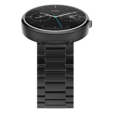 Недорогие Аксессуары для смарт-часов-Ремешок для часов для Мото 360 Motorola Бабочка Пряжка Нержавеющая сталь Повязка на запястье