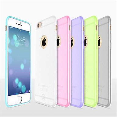 voordelige iPhone 6 Plus hoesjes-hoesje Voor Apple iPhone 8 Plus / iPhone 8 / iPhone 6s Plus Ultradun / Mat / Doorzichtig Achterkant Effen Zacht Siliconen