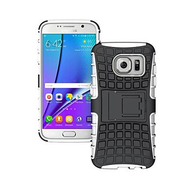 voordelige Galaxy S-serie hoesjes / covers-hoesje Voor Samsung Galaxy S8 Plus / S8 / S7 edge Schokbestendig / Reliëfopdruk Achterkant Schild PC