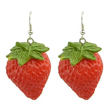 Pentru femei Resin Cercei Picătură Căpșuni femei Reșină cercei Bijuterii Pentru Petrecere Zilnic