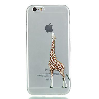 voordelige iPhone 5 hoesjes-hoesje Voor Apple iPhone 8 Plus / iPhone 8 / iPhone 7 Plus Transparant Achterkant Spelen met Apple-logo Zacht TPU