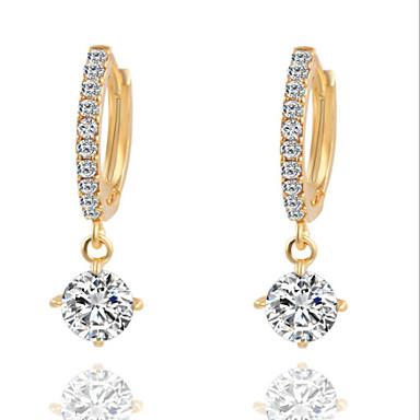 povoljno Naušnice-Žene Dijamant Kubični Zirconia mali dijamant Viseće naušnice Chandelier Pasijans dame Moda Kubični Zirconia Glina Naušnice Jewelry Zlato / Srebro Za Dnevno