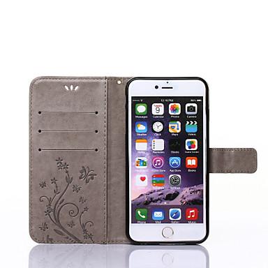 Недорогие Кейсы для iPhone 6 Plus-Кейс для Назначение Apple iPhone XS / iPhone XR / iPhone XS Max Кошелек / Бумажник для карт / со стендом Чехол Бабочка Твердый Кожа PU