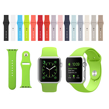 voordelige Apple Watch-bandjes-horlogeband voor Apple Watch-serie 5/4/3/2/1 Apple Sport siliconen armband armband Correa siliconen polsband