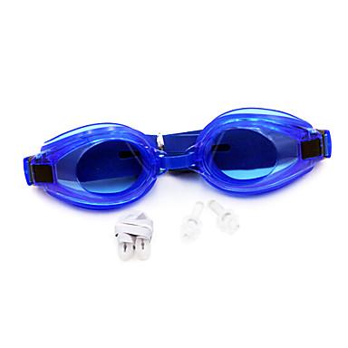 رخيصةأون نظارات السباحة-نظارات السباحة مقاوم للماء مكافح الضباب وصفة معكوسة جل السيليكا بلاستيك حساء دسم أصفر أخضر أسود