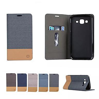 رخيصةأون حافظات / جرابات هواتف جالكسي A-غطاء من أجل Samsung Galaxy A3 (2017) / A5 (2017) / A7 (2017) حامل البطاقات / مع حامل / قلب غطاء كامل للجسم لون سادة ناعم جلد PU