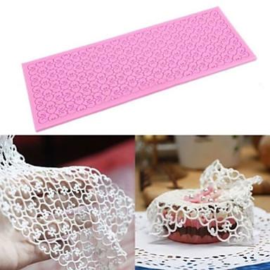 ieftine Ustensile & Gadget-uri de Copt-silicon dantela mats mucegai tort mucegai de zahăr ambarcațiunile fondant tort mat decorare instrument de copt