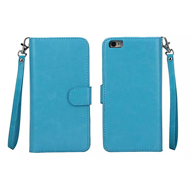 billige iPhone-etuier-Etui Til Apple iPhone 8 Plus / iPhone 8 / iPhone 7 Plus Lommebok / Kortholder / med vindu Heldekkende etui Ensfarget Hard PU Leather