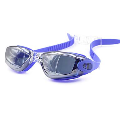 baratos Óculos de Natação-Óculos de Natação Prova-de-Água Anti-Nevoeiro Prescrição Espelhado silica Gel PC Branco Cinzento Preto Vermelho Cinzento Preto