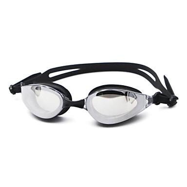 olcso Úszószemüvegek-Úszás Goggles Páramentesítő Vényköteles Tükrözött Silica Gel PC Fekete Kék Sötétkék Fekete Kék Sötétkék