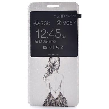 hoesje Voor Samsung Galaxy S7 plus / S7 edge / S7 met venster / Flip Volledig hoesje Sexy dame PU-nahka