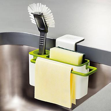 olcso Konyhai tárolás-konyhai kefe mosogató mosogató mosogatótartó tapadókoronggal