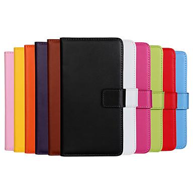 Недорогие Чехлы и кейсы для Nokia-Кейс для Назначение Nokia Lumia 820 / Nokia Lumia 925 / Nokia Lumia 1020 Nokia Lumia 640 XL Кошелек / Бумажник для карт / со стендом Чехол Однотонный Твердый Кожа PU