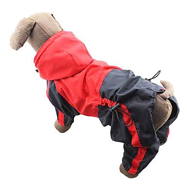رخيصةأون ملابس وإكسسوارات الكلاب-قط كلب معطف المطر ملابس الكلاب ألوان متناوبة أحمر أخضر نايلون كوستيوم من أجل كلب البلدغ شبعا اينو كوكر سبانيل ربيع & الصيف الصيف رجالي نسائي مقاومة الماء ضد الرياح