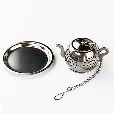 olcso Teázás kellékek-teáskanna tea infúzió mini lemez rozsdamentes acél szűrővel