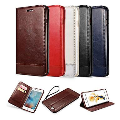 رخيصةأون Galaxy S6 أغطية / كفرات-غطاء من أجل Samsung Galaxy S7 edge / S7 / S6 edge محفظة / حامل البطاقات / مع حامل غطاء كامل للجسم لون سادة جلد PU