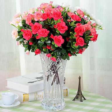 Kunstige blomster 1 Afdeling pastorale stil Azalea Bordblomst