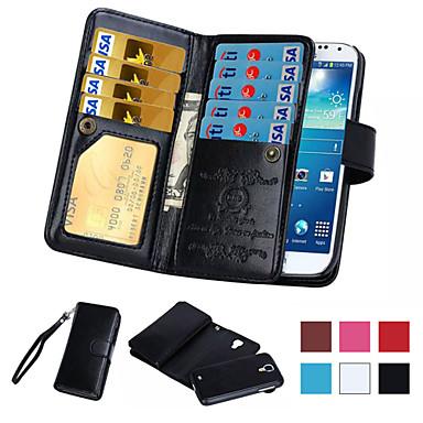 voordelige Galaxy Note 5 Hoesjes / covers-hoesje Voor Samsung Galaxy Note 5 / Note 4 / Note 3 Portemonnee / Kaarthouder / Flip Volledig hoesje Effen PU-nahka