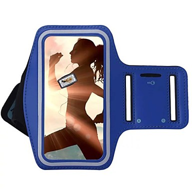 hoesje Voor Universeel S8 Plus / S8 / S7 edge met venster / Armband Armband Effen Zacht tekstiili