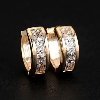 cheap Earrings-Women's Cubic Zirconia Stud Earrings Hoop Earrings Huggie Earrings Ladies Fashion Elegant Bling Bling Zircon Earrings Jewelry Silver / Golden For Wedding Party Daily Casual Sports Masquerade