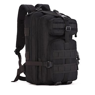 olcso Hátizsákok és táskák-30 L Hátizsákok hátizsák Katonai taktikai hátizsák Többfunkciós Porbiztos Tartós Kopásállóság Külső Kempingezés és túrázás Vadászat Mászás Vászon Fekete Jungle álcázás digitális Jungle