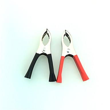 Недорогие Ремонтные инструменты-iztoss 1 пара омедненные изолированные зажимы аккумулятора автомобиля Аллигатор зажимы 30а красный черный
