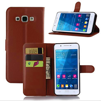 Недорогие Чехлы и кейсы для Galaxy А-Кейс для Назначение SSamsung Galaxy A7(2016) / A5(2016) / A3(2016) Бумажник для карт / со стендом / Флип Чехол Однотонный Кожа PU