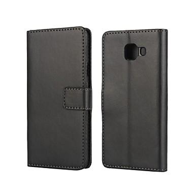 voordelige Galaxy A-serie hoesjes / covers-hoesje Voor Samsung Galaxy A3(2016) Kaarthouder / met standaard / Flip Volledig hoesje Effen PU-nahka