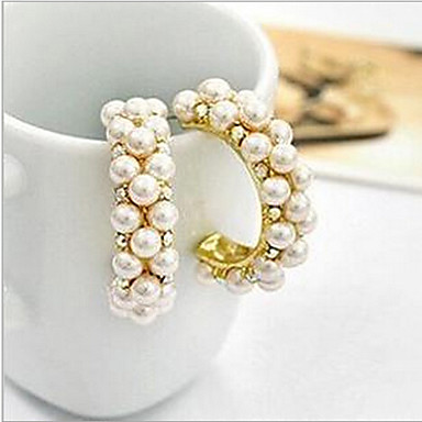 Women S Synthetic Diamond Stud Earrings Hoop Pearl Imitation Cubic Zirconia Luxury Screen Color For 4848575 2018
