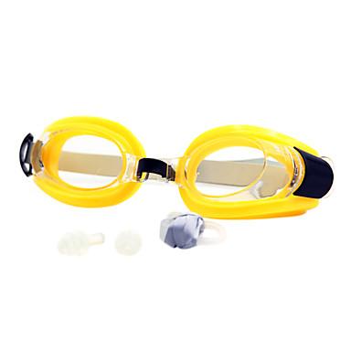 رخيصةأون نظارات السباحة-نظارات السباحة مقاوم للماء مكافح الضباب وصفة معكوسة جل السيليكا بلاستيك حساء دسم أصفر أحمر أسود