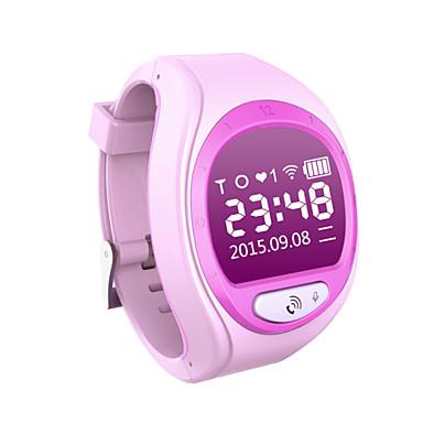 رخيصةأون ساعات النساء-للجنسين متصل رقمي مطاط GPS رقمي أزرق زهري