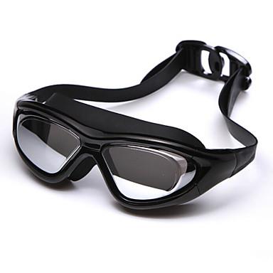 olcso Úszószemüvegek-Úszás Goggles Vízálló Páramentesítő Állítható méret UV-védő Törhetetlen Rövidlátás Silica Gel PC Piros Fekete Ezüst Szürke